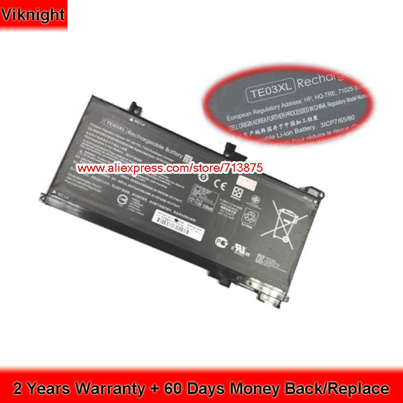 Genuine TE03XL HSTNN-UB7A Battery For HP OMEN 15 Laptop WASD 15 Series 11.55V 61.6Wh 15 2v 58wh rr04 notebook battery for hp omen 15 15 5014tx tpn w111 778951 421 4icp6 60 80 hstnn lb6n