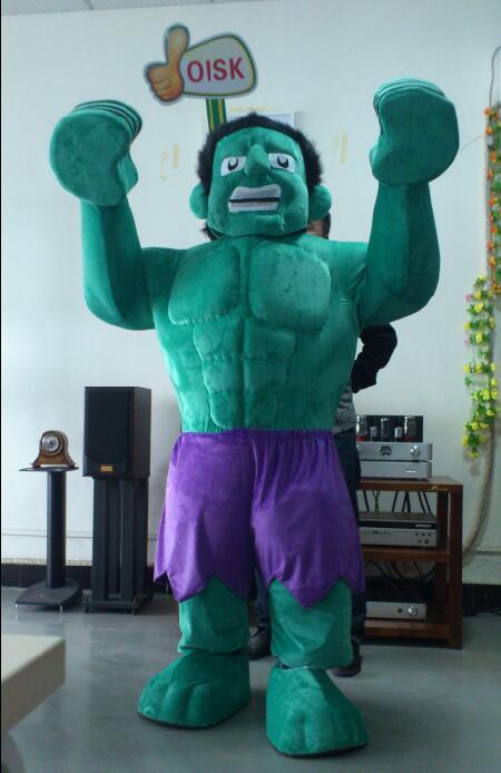 OISK Professionnel Personnalisé Le Hulk Costume De Mascotte Animale Costume Halloween De Noël D'anniversaire Plein Corps Soutiens Costumes Outfit