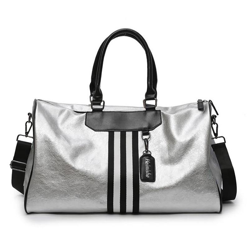 Women PU Leather Large Capacity Waterproof Fitness Short-Distance Travel Bag Ladies Hand Luggage Bag Men\'S