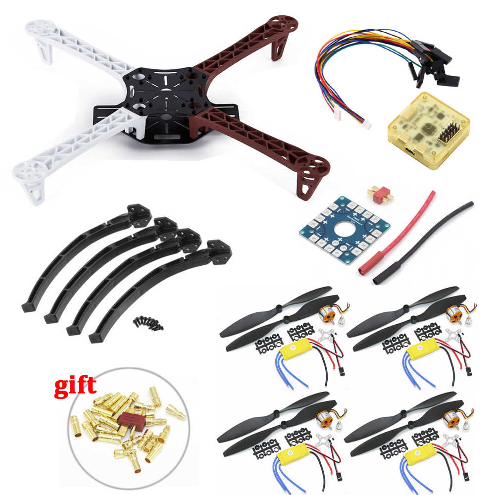 F450 PCB Frame Kit CC3D EVO Flight Controller Board XXD A2212 1000KV Motor 30A ESC 1045 Props For Rc Quadcopter f450 450mm pcb version quadcopter rack frame kit naza m lite flight controller board
