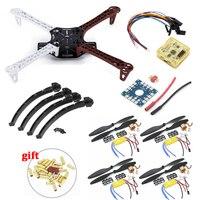 F450 PCB Frame Kit CC3D EVO Flight Controller Board XXD A2212 1000KV Motor 30A ESC 1045 Props For Rc Quadcopter