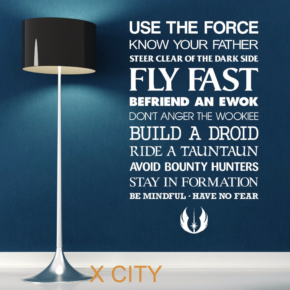 Quote Star Wars: STAR WARS QUOTE USE THE FORCE Wall Art Sticker Decal