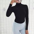2017 mujeres de la marca de primavera de cuello alto de color sólido camisas de algodón Classic 3 colores Tops