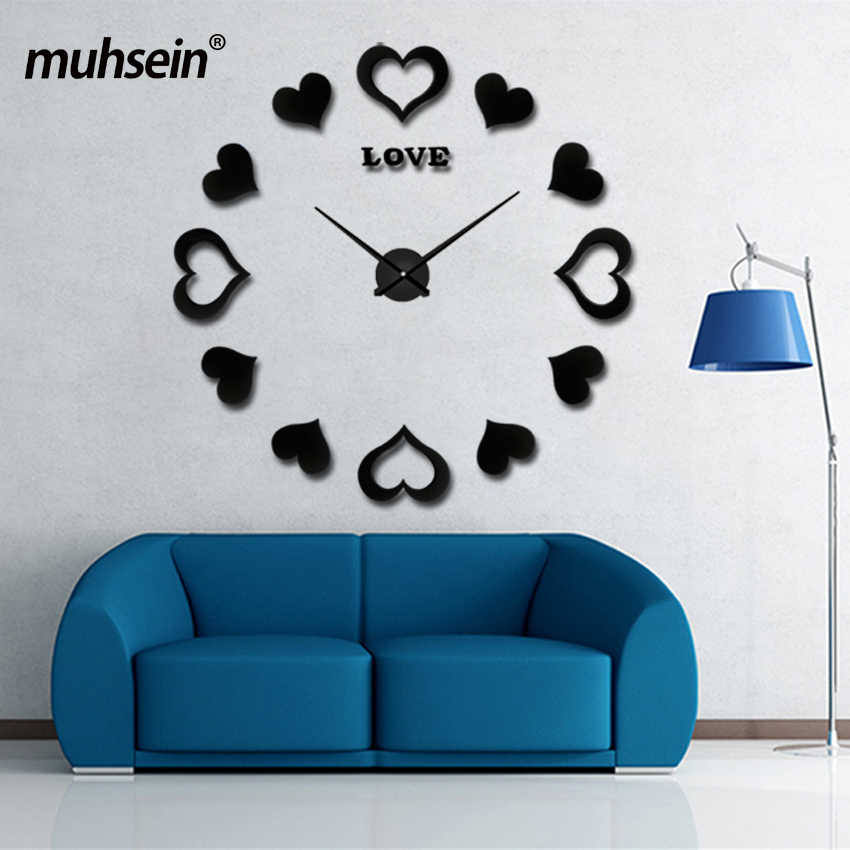 2019 Sticker Decorative Wall Clocks Modern Design Decoration Home 3d Wall Clock New Large Wall Clock Wedding Gift Free Shipping
