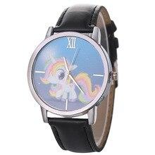 цена на New Fashion Cartoon Quartz Watch Women Children Casual Leather Dress Wrist Watches Clock Women Ladies Watch zegarek damski