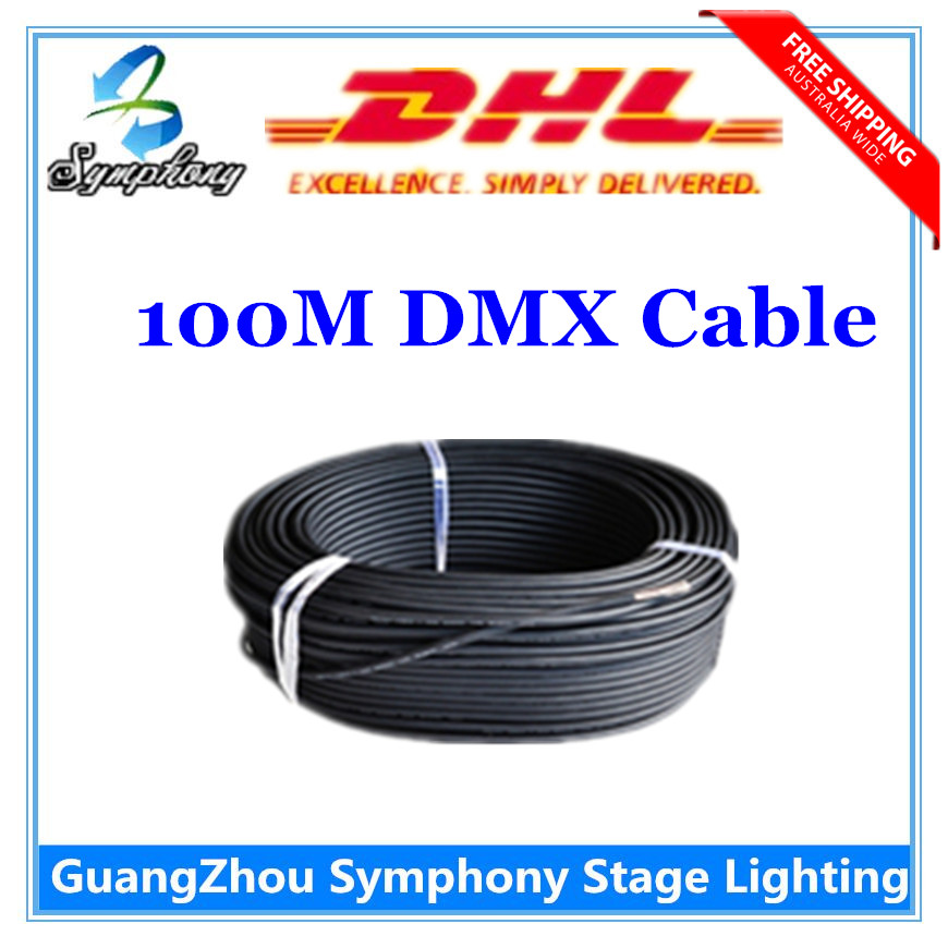 Dhl Shipping 100m Dmx Signal Line Dj Lights 3 Pin