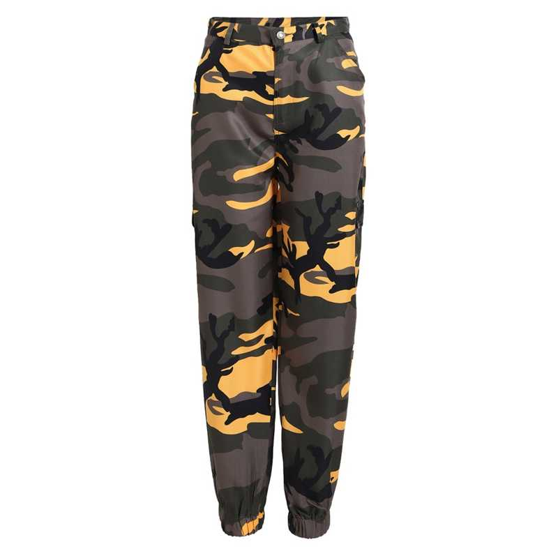 a06d00350fe8f ... Women Camouflage Pants Trousers New Fashion Camo Sweatpants Women  Pockets High Waist Long Pants Female Streetwear ...