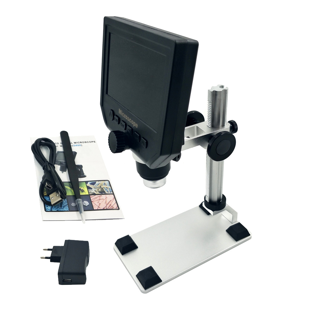 1-600x G600 4.3 LCD Digital Microscope USB Microscope Video Camera Recorder HD 3.6 Mega Pixel With1080P/720P/VGA Wide Usage леонид трумекальн зарисовки по ходу