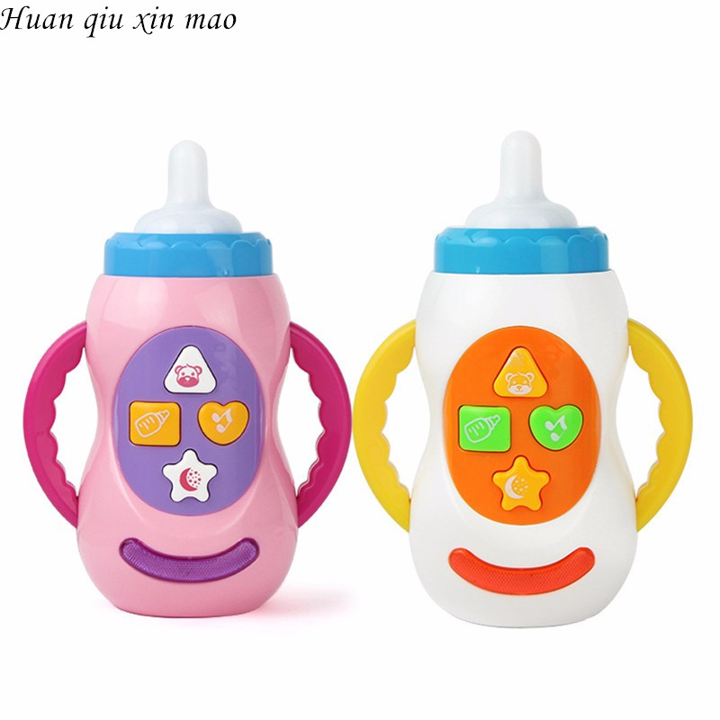 Huan qiu xin mao Baby toys with sound and light / milk bottle learning toy / child musical feeding bottle / Educational toy
