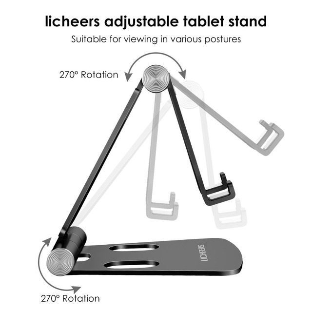 LINGCHEN Phone Holder Stand for iPhone 11 Xiaomi mi 9 Metal Phone Holder Foldable Mobile Phone Stand Desk For iPhone 7 8 X XS 6