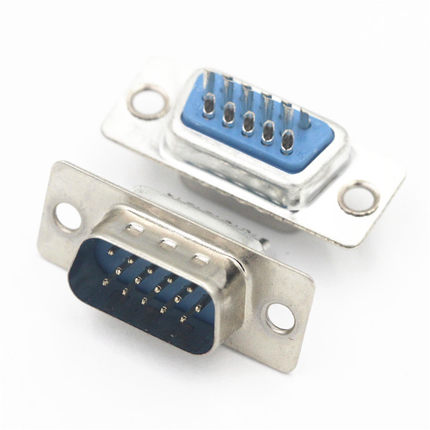 10Pcs D SUB Connector 15 Position Plug Male Pin Solder Wire Type Adapter Tin Plate VGA Connector