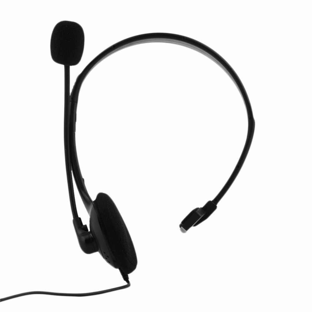 أسود فوق الأذن السلكية سماعة سماعة رأس بمايكروفون سماعة الألعاب للكمبيوتر لعبة فيديو ألعاب ل بلاي ستيشن ل PS4 مع VOL