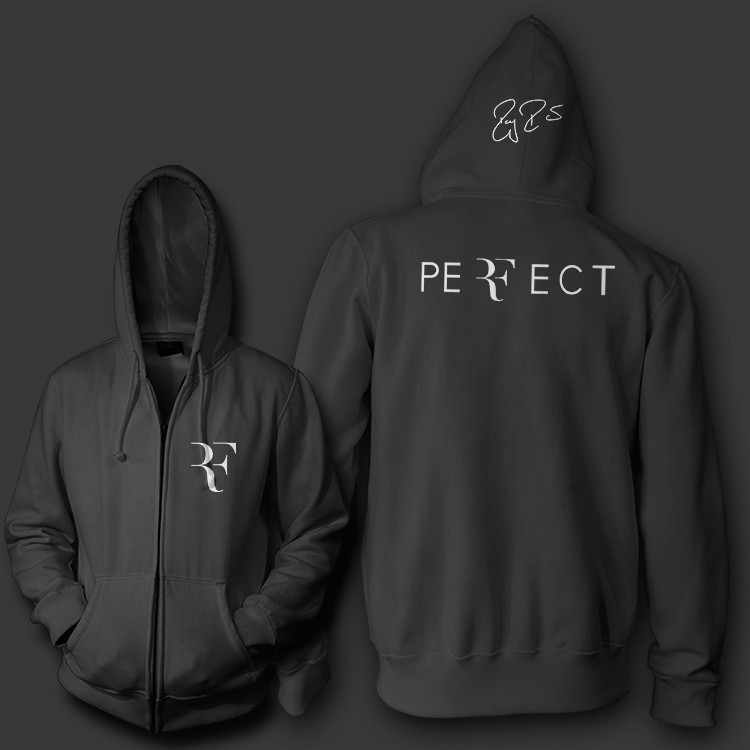 Roger-Federer-signature-RF-logo-perfect-men-unisex-zip-up-hoodie-Sweatshirt-10-3oz-weight-fleece