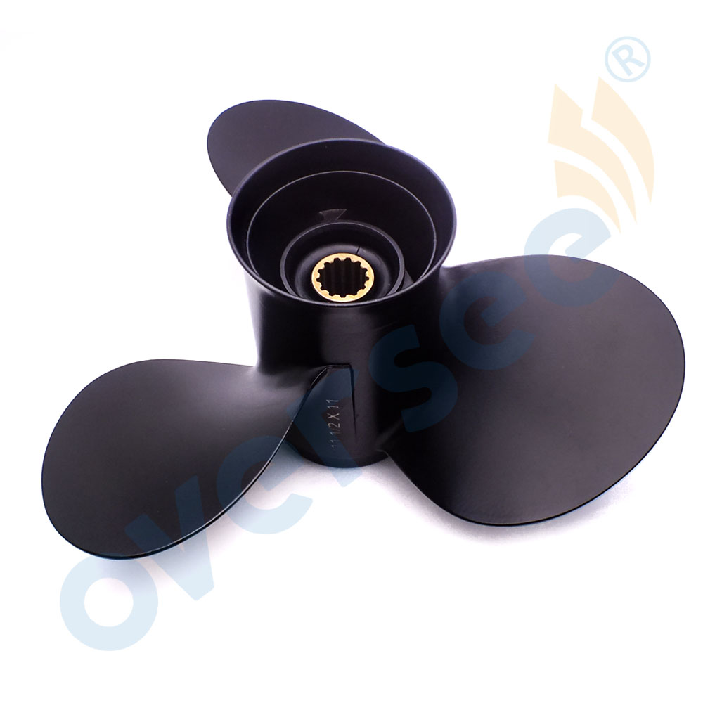 hight resolution of aluminum propeller 11 1 2x11 for suzuki outboard motor dt40 dt50 40hp 50hp 11 1 2x11 58100 95222 019 in boat engine from automobiles motorcycles on