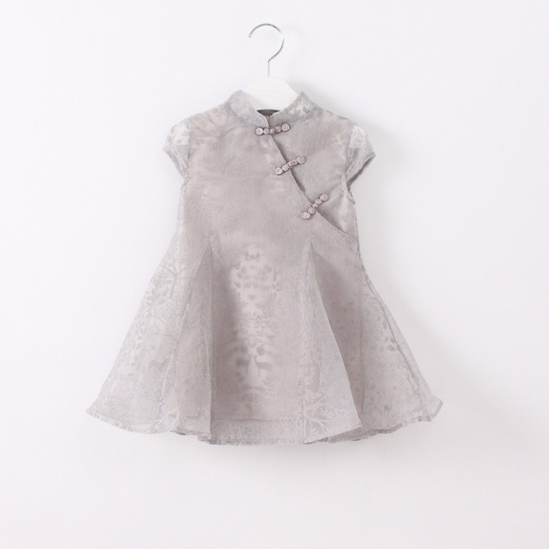 8e2c36dfa17c New Summer Girls Eugen Cheongsam Dresses Korean Yarn Baby Girl Frock Fancy  Smoking Dress for Kids-in Dresses from Mother & Kids on Aliexpress.com |  Alibaba ...