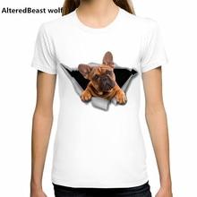 Горячая Летняя забавная женская футболка с 3D принтом «Мопс» футболка с французским бульдогом Новинка, футболка с короткими рукавами с принтом мопса, футболка с плохой собакой