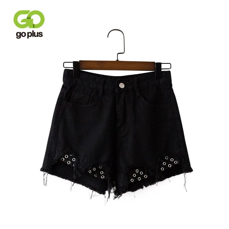 GOPLUS Summer Denim   Shorts   Women High Waist Tassel Vintage Jeans   Shorts   Womens Streetwear Plus Size Zipper Fly Spodenki Damskie