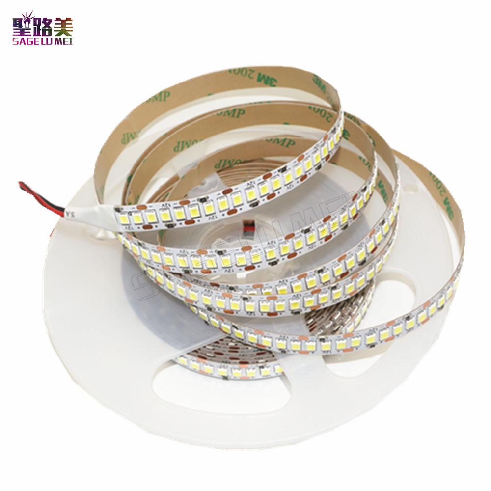 DC 12V SMD 2835 LED strip 1200 LEDs chip LED Flexible PCB light LED backlight Strip LED tape ribbon 240 LED/m White / Warm White 300x3528 smd led 3500k warm white light flexible strip 5 meter dc 12v
