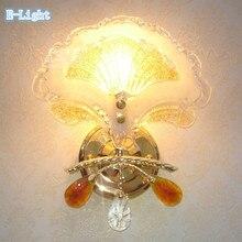 2 абажур для выбора ТОЛЬКО Стиль Прикроватные Бра Спальня лестницы Кристалл Настенный Светильник Золото Светодиодные Лампы Для гостиной Деко