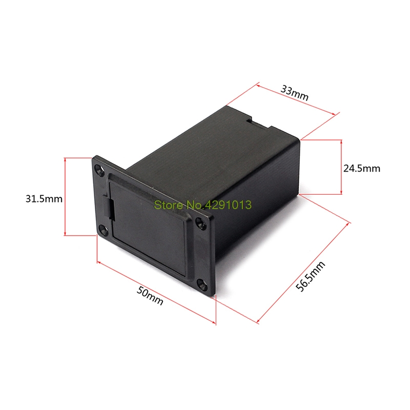 1PC Battery black holder case box compartment cover guitar bass pickup  X