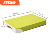 RSCHEF Drawer storage chopping board kitchen supplies multi function double layer cutting board
