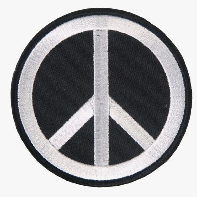 Peace Sign Anti War Hippie Retro Flower Power Weed Love Applique