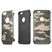 2 In 1 Army Camo Durable Camouflage Pattern Plastic And Soft TPU Armor Hard Back Phone