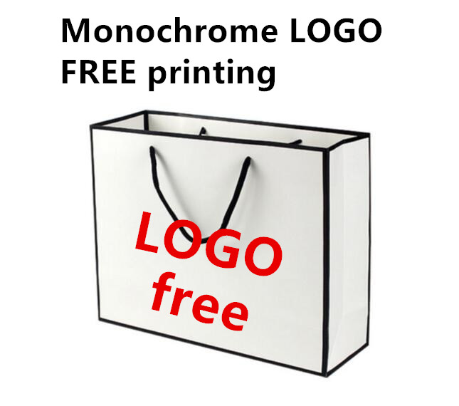 4 Size Available 100PCS/LOT White With Black Side New Style Paper Bag Gift Packaging