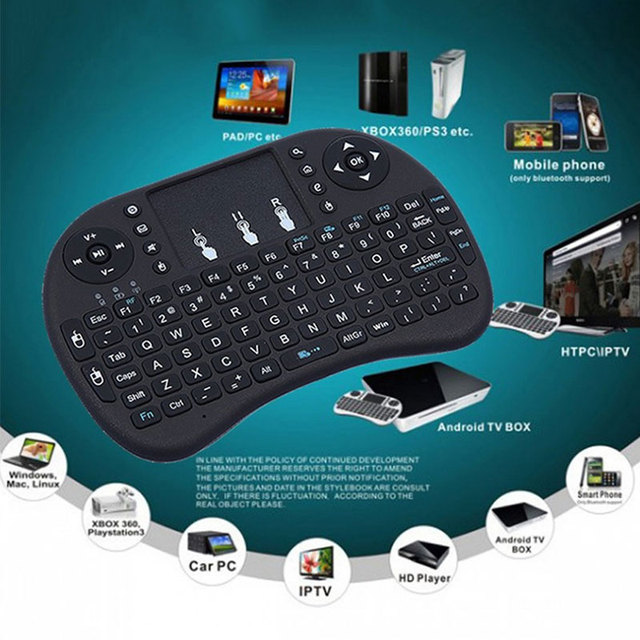 i8 French/Russia/English/Spanish Version 2.4GHz Wireless Keyboard Air Mouse Teclado Touchpad Handheld for Android TV BOX PC