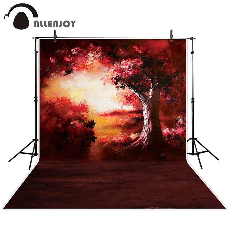 painting studio lighting. allenjoy photographic background light painting red tree backdrops kids wedding studio fabric 150x200cmchina lighting