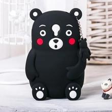 3D Прекрасный милый мультфильм Силиконовые Мягкий черный медведь животного чехол для Meizu M2 мини/M3 мини/M3S Мини противоударный чехол для телефона
