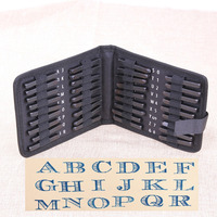 36pcs Set Carbon Steel Punch Set Metal Letter And Number Stamp Set Metal Leather Craft Tool