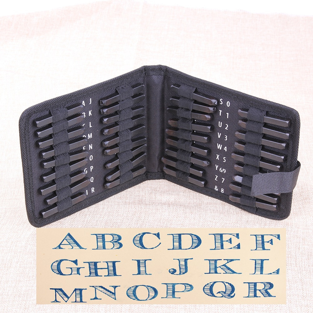 36pcs Set Carbon Steel Punch Set Metal Letter And Number Stamp Set Metal Leather Craft Tool