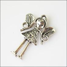 4 шт оттенок антикварного серебра Крылья ангела Подвески 24x36,5 мм