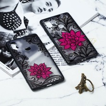 Lace Flower Pattern Cases For Xiaomi mi M8 8 SE Case Transparent Hard PC & TPU Bumper Cover 6X 5X 5S Plus mi5