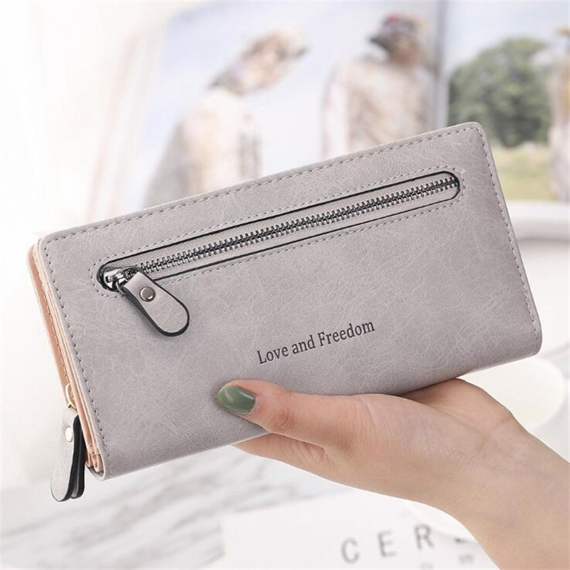 Women Long Wallet 2018 women's Large Capacity Wallets Female PU leather Purse Lady Coin Purses Phone Card Holder clutch Two Fold fashion flamingo floral print women long wallet large capacity clutch purse phone bag pu leather ladies card holder wallets