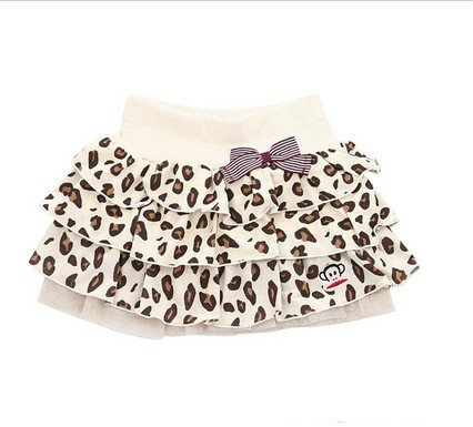 New summer girls cake skirt leopard casual fashion miniskirt special offer free shipping