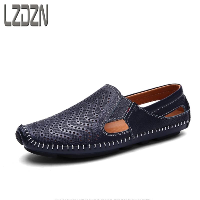 639361b3c4f2e Leather sandals summer sandals mens shoes slippers summer men drag ...