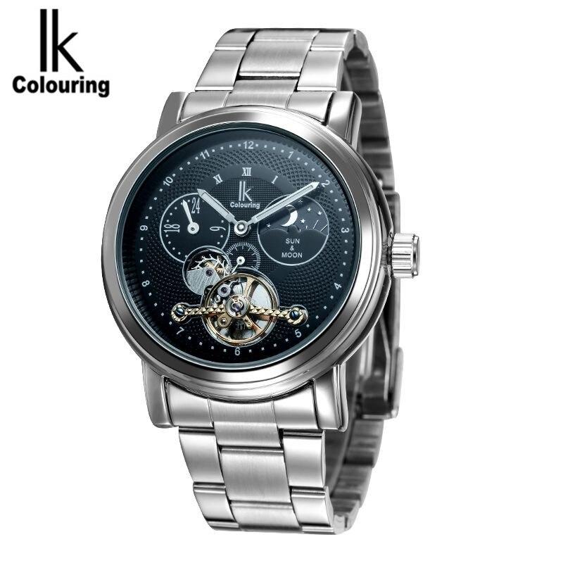 ФОТО 2017 IK Top Brand Man Watches Automatic Men's 24Hours Moonphase Mechanical Wristwatch Original Box Free Ship