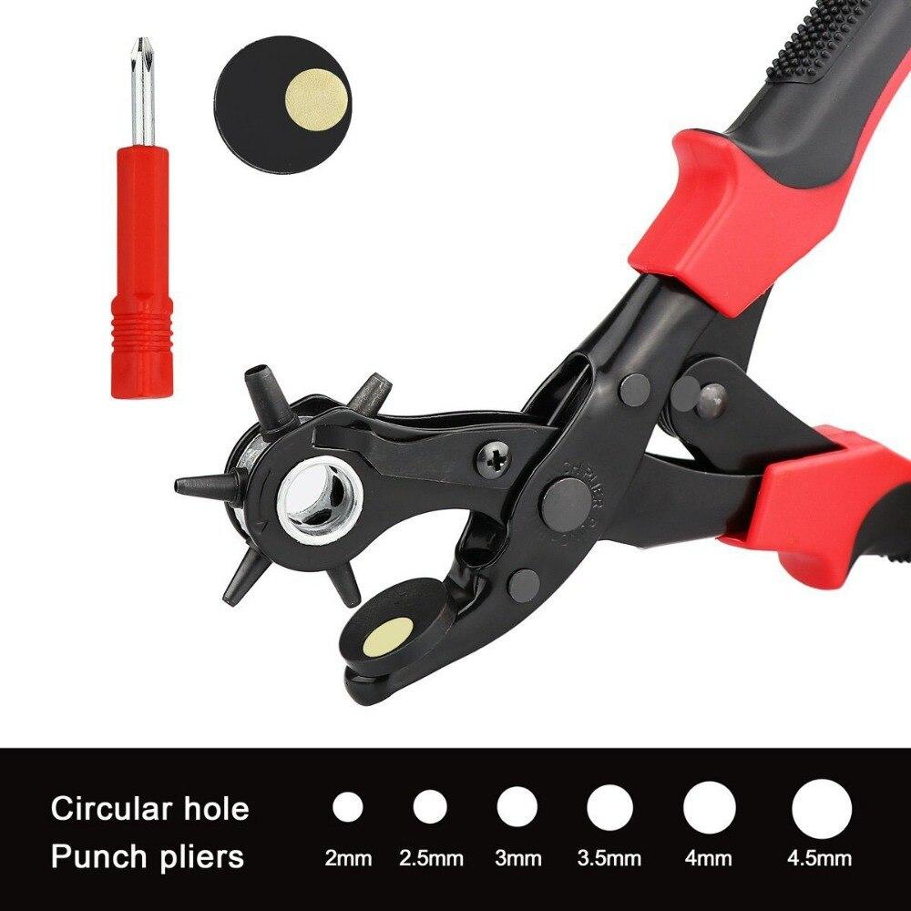 Kreativ Neue 2 Stil Drehenden Ledergürtel Locher Professionelle Schwere Duty Gürtel Locher Werkzeug Zange Löcher In 2,0 Mm-4.5 Mm Werkzeuge Handwerkzeuge