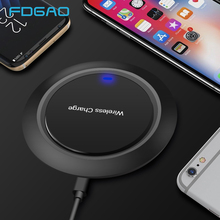 FDGAO Ultra-Thin Qi Wireless Charger for iPhone X XS Max XR 8 Plus USB Phone Wireless Charging pad Dock For Samsung S8 S9 Note 9
