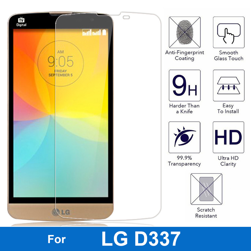 Nicotd 9H 2.5D Ultrathin Premium Tempered Glass Film For LG D335 L Bello Dual D331 L Prime D337 Screen Protector Protective Film