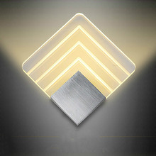 Loft Led Lamp Acrylic Wall Luminaire Bathroom Light Luminarias Lights For Home Stair Applique