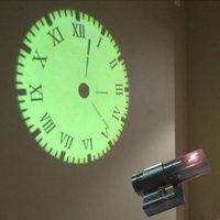 LED projection Roman clock Home Decoration Living Room Quartz Needle personality electronic clock