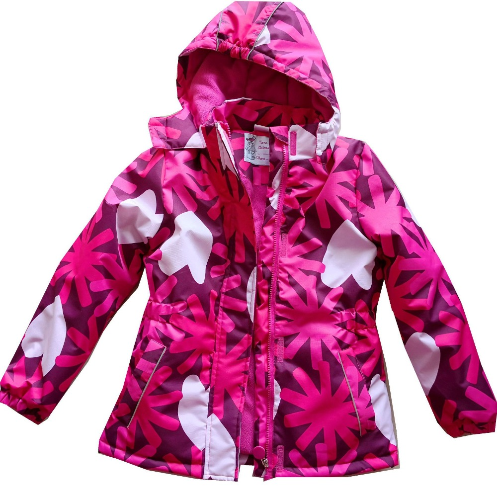 Fashion Thicken Warm Cotton Winter Waterproof Baby Girls Jackets Child Coat Heavyweight Children Outfits For 3-12 Years Old