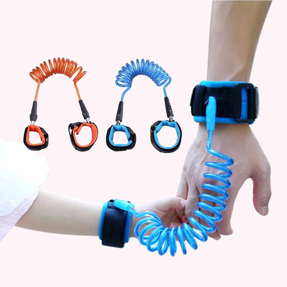 Pet Products 2.0m Toddler Leash Anti Lost Wrist Link Safety Harness For Baby Strap Rope Outdoor Walking Hand Belt Band Wristband Kids Leashes