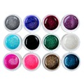 12PCS UV Builder Gel Polish Bling Nail Gel Soak Off Small Glitter Builder Nail Art UV Gel 2016 Fashion Colors UV Gel Nail Polish