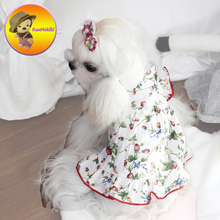 Personalize Design Spring Summer Dog Dress Dresses Pet Pinapple Skirt Skirts cat Clothing Supplies 3XS-3XL Dog Pet Apparel