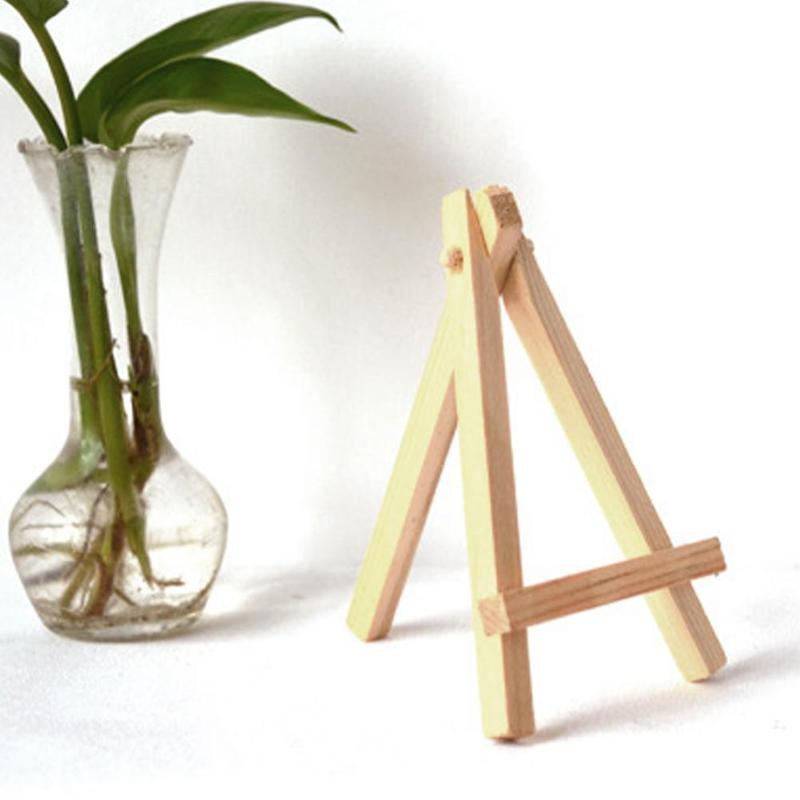<font><b>12x20</b></font> Wood Painting Sketch Easel Frame Tripod Display Meeting Wedding Table Number Stand Display Holder Children Painting Craft image
