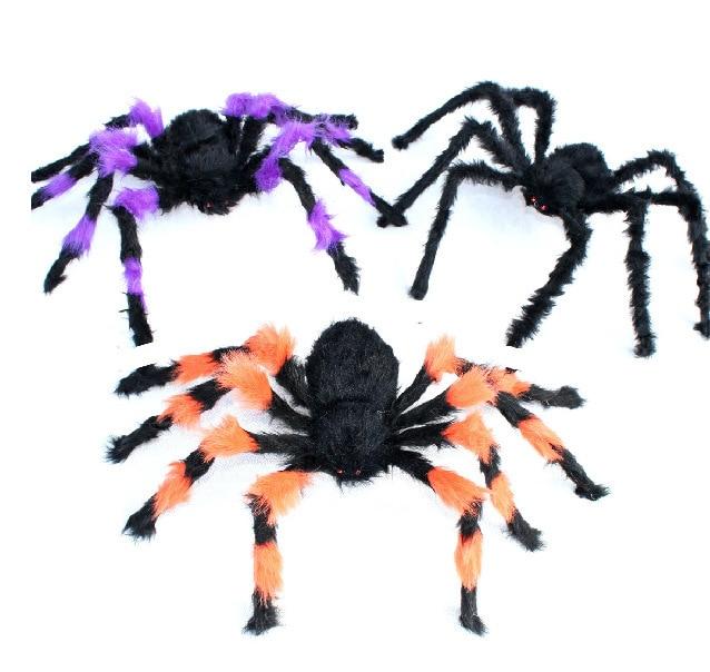 5pcs halloween spider 30cm large colorful spider plush puppet toys halloween decorationchina mainland